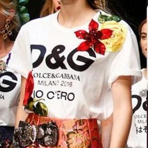 人気美品 可愛い D&GTシャツ レディース 激安 花柄