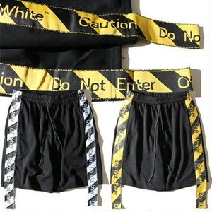 新入荷 オフホワイト Off-Whitショートパンツ 人気美品 カジュアル  ユニセックス ウィメンズファッション メンズファッション ストライプ
