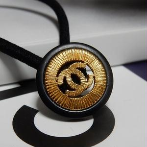 ヴィンテージ CHANEL シャネル ボタン ココマーク 18mm 透かし ブラック×ゴールド ヘアゴムのおまけ付(c-80)