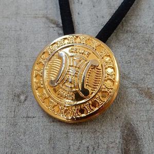 ヴィンテージ CELINE セリーヌ ボタン 21mm マカダム柄 ゴールドボタン ヘアゴムのおまけ付(ce-2)