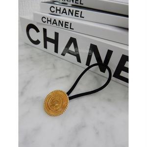 ヴィンテージ CHANEL シャネル ゴールドボタン21mm ココシャネルモチーフ ヘアゴムのおまけ付(c-13)