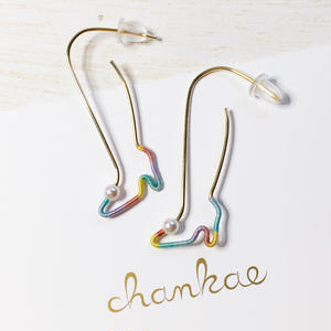 14KGF wire earring/14KGFワイヤー/ハイヒールの足ピアス