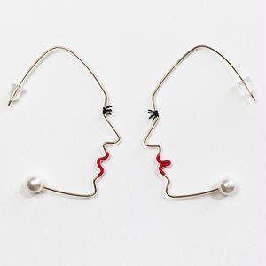 14KGF wire earring/14KGFワイヤーピアス 横顔(阿吽ペア)