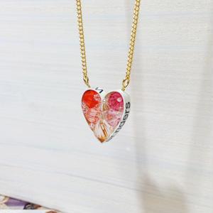 Metrocard necklace メトロカードネックレス/ハート・ピンク系・ゴールドチェーン