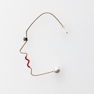 14KGF wire earring/14KGFワイヤーピアス 横顔(片耳)
