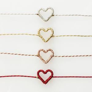 [セミオーダー]Japanese silk cord bracelet くみひもブレスレット/ハート