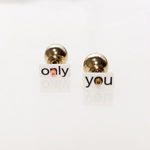 Metrocard pierced earrings メトロカードピアス/メッセージタイプ・only you×メタルパールキャッチ