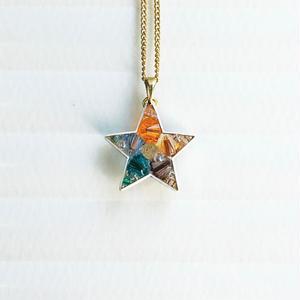 Metrocard necklace メトロカードネックレス/スター・ゴールドチェーン02