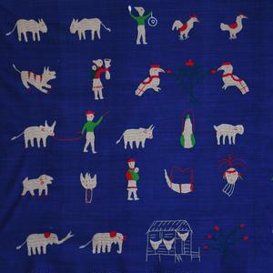 ミャンマー・ナガ族 刺繍クロス(f)