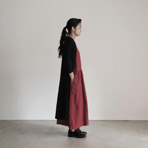 17-0005 AZUMADAKI Linen Dress / RED
