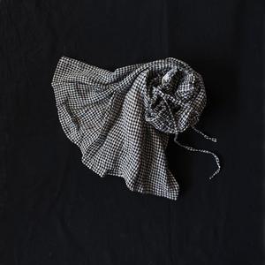 17-0011 Gingham Skirt / BLACK