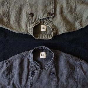 18-0039  硫化染め Linen Patissier Jacket / CHARCOAL