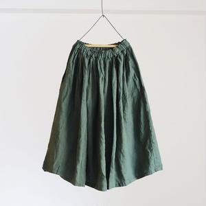 17-0006 AZUMADAKI Linen Skirt / GREEN