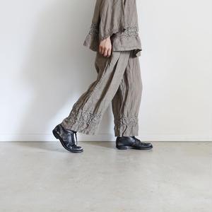 18-0034  硫化染め Linen Lase Pants / MOCAH