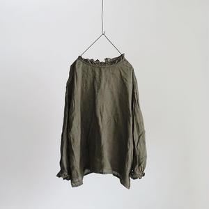 17-0004  Linen Pullover / KHAKI