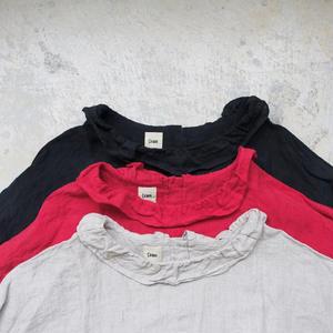 17-0024 Linen Frill Pullover / NATURAL