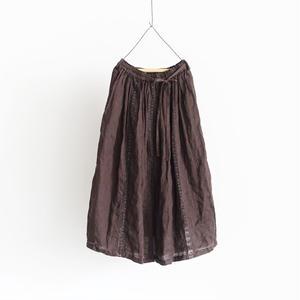 18-0036  硫化染め Linen Lase Skirt / BROWN