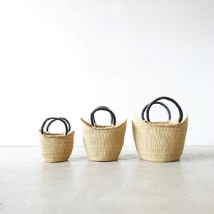 BBB-002  Straw Basket Ghana - medium / NATURAL