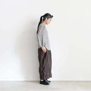 18-0034  硫化染め Linen Lase Pants / BROWN