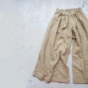 17-0015 Linen Canvas Pants  /  BEIGE