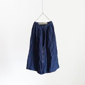 18-0032 Linen Houndstooth Pants  /  NAVY