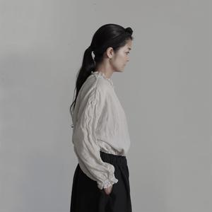 17-0004  Linen Pullover / BEIGE