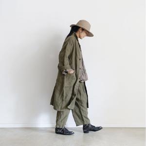 18-0040  硫化染め Linen Atelier Coat / KHAKI