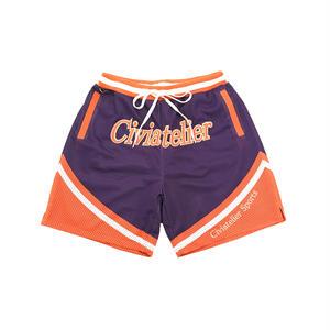 Civiatelier Original basket jersey short pants  PURPLE*ORANGE