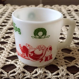 "Egg nog Mug ""Santa Claus & Fireplace"""