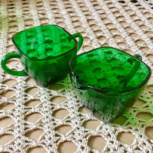 ForestGreen* Charm Sugar&Creamer set