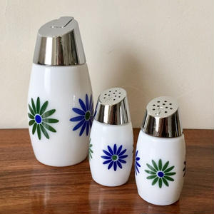 Gemco - Retro flower* Sugar, Salt&Pepper Shaker set