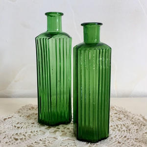 Darkgreen Poison Bottle 6oz & 4oz set(England)