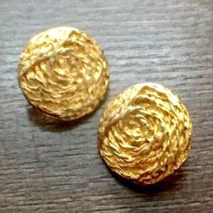 アンティーク・ボタンセット(Gold metal)