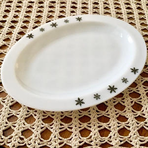 Snowflake Oval Platter(Gaiety)