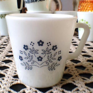 Tiny Flower  Mug(Blue)