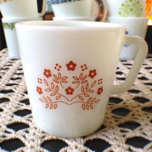 Tiny Flower  Mug(Brown)