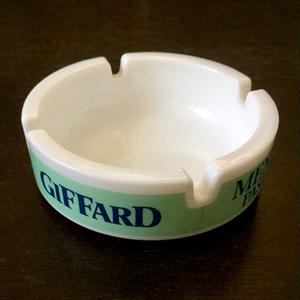 Giffard - Menthe Pastille:Milk glass Ashtray (made in France)