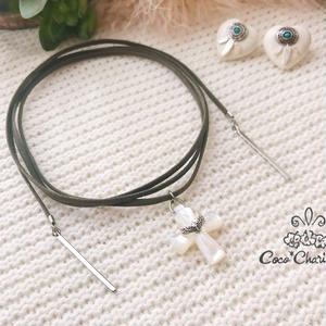 Eagle cross long choker