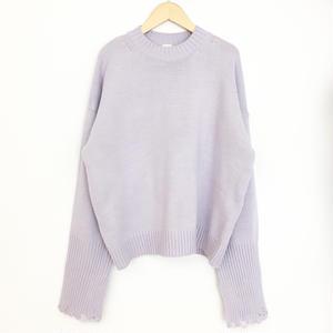 design cuff sweater  LAVENDER