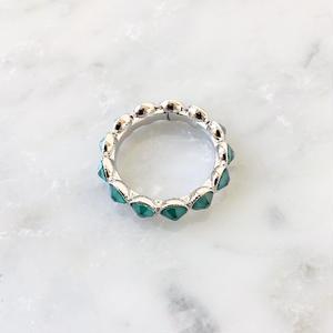 teal eternity ring