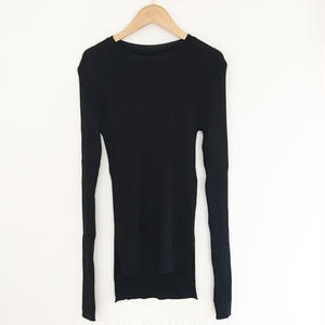 long sleeve rib knit  black