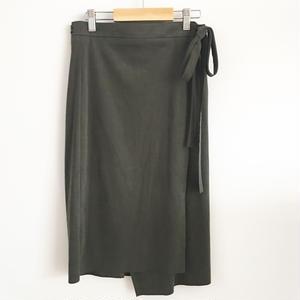 suede skirt khaki