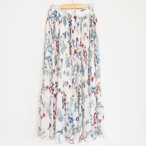 flower printed pleated skirt