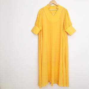 volume color  dress YELLOW