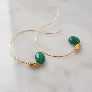 sea grape earrings green