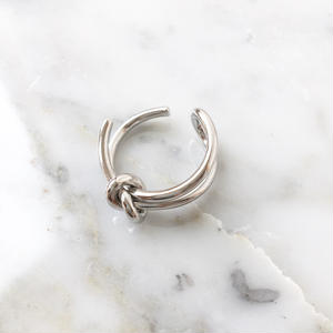 rope ring silver