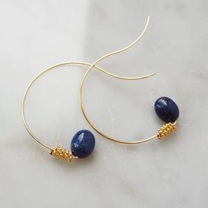 sea grape earrings blue