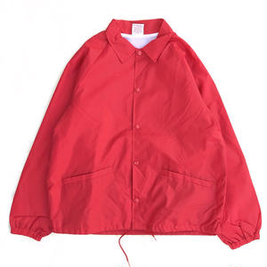 Made in USA / 90s dead stock coach jacket / RED