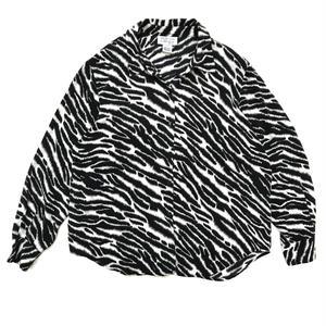 For Ladies / Used Silk  Shirt / Zebra