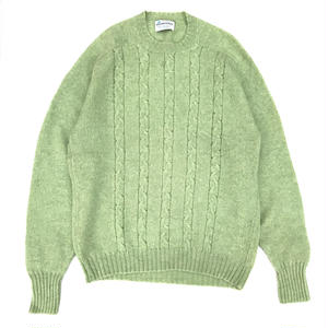 Made in USA / OLD PURITAN Shetland Wool Sweater / lime